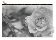 Black And White Rose Carry-all Pouch