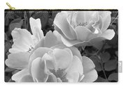 Black And White Roses 1 Carry-all Pouch