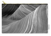 Black And White Sandstone Waves Carry-all Pouch