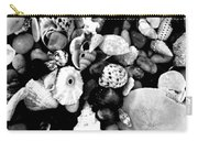 Black And White Seashells Carry-all Pouch