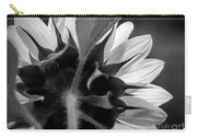 Black And White Sinflower 6 Carry-all Pouch