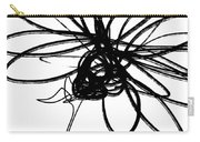 Black And White Sketch Flower 4- Art By Linda Woods Carry-all Pouch