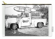 Black And White Sketch Truck Carry-all Pouch