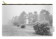 Black And White Snow Landscape Carry-all Pouch