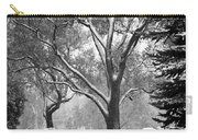 Black And White Snowy Landscape Carry-all Pouch