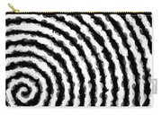 Black And White Spiral Carry-all Pouch