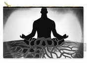 Black And White Spiritual Grounding Carry-all Pouch