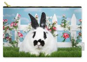 Black And White Spring Bunny Carry-all Pouch