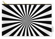 Black And White Starburst Carry-all Pouch