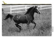Black And White Steed Carry-all Pouch