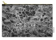Black And White Sun Flowers  Carry-all Pouch