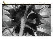 Black And White Sunflower 5 Carry-all Pouch