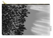 Black And White Sunflower Carry-all Pouch