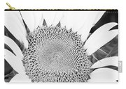 Black And White Sunflower Face Carry-all Pouch