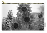 Black And White Sunflowers Carry-all Pouch