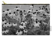 Black And White Susans Carry-all Pouch