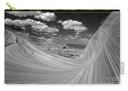 Black And White Swirling Landscape Carry-all Pouch