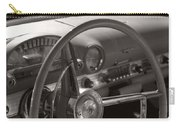 Black And White Thunderbird Steering Wheel  Carry-all Pouch