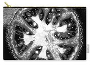 Black And White Tomato Carry-all Pouch