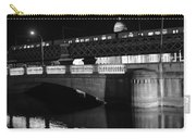 Black And White Train Carry-all Pouch
