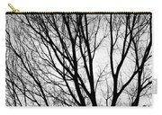 Black And White Tree Branches Silhouette Carry-all Pouch