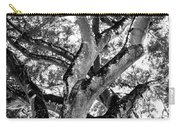 Black And White Tree Carry-all Pouch