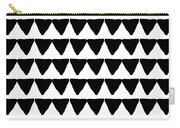 Black And White Triangles- Art By Linda Woods Carry-all Pouch