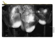 Black And White Tulips Carry-all Pouch