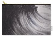 Black And White Wave Guam Carry-all Pouch