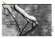 Black And White Winter Mood Carry-all Pouch