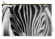 Black And White Zebra  Carry-all Pouch