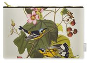 Black And Yellow Warbler Carry-all Pouch
