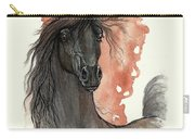 Black Arabian Horse 2013 11 13 Carry-all Pouch