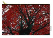 Black Bark Red Tree Carry-all Pouch