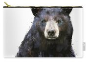 Black Bear Carry-all Pouch by Amy Hamilton