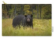 Black Bear In The Grass Carry-all Pouch