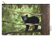Black Bear Ursus Americanus Cub In Tree Carry-all Pouch