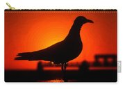 Black Bird Red Sky Carry-all Pouch