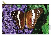 Black Butterfly On Heliotrope Carry-all Pouch
