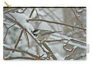 Black Capped Chickadee - Poecile Atricapillus Carry-all Pouch