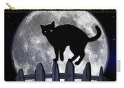Black Cat And Full Moon 3 Carry-all Pouch