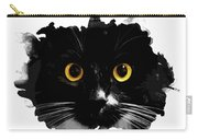 Black Cat, Yellow Eyes Carry-all Pouch