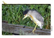 Black Crown Night Heron Scratching Carry-all Pouch