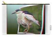 Black Crowned Night Heron - Use Red-cyan 3d Glasses Carry-all Pouch