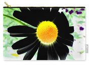 Black Daisy Carry-all Pouch