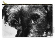 Black Dog Looking At You Carry-all Pouch