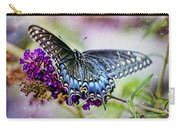 Black Eastern Swallowtail Carry-all Pouch