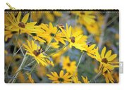Black-eyed Susan Texturized Carry-all Pouch