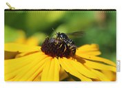 Black Eyed Susan With Wasp Carry-all Pouch