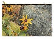 Black Eyed Susans Next Gray And Black Rock Fading Foliage Green 2 10222017 Colorado Carry-all Pouch
